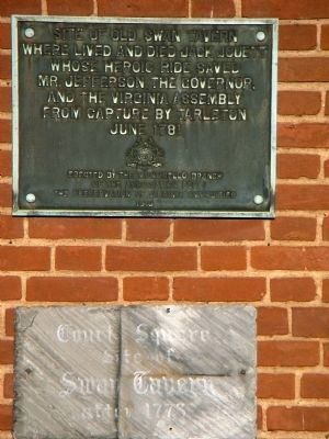 Site of Old Swan Tavern Marker Photo, Click for full size