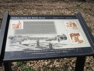 Trades along the Battle Road Marker image. Click for full size.
