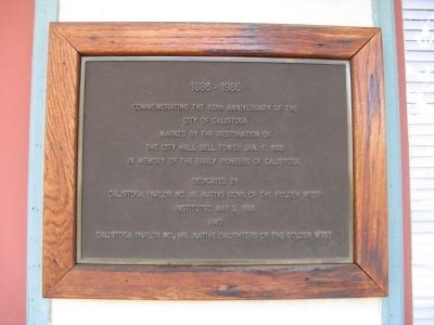 Second Marker at the Calistoga City Hall Photo, Click for full size