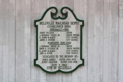 Bellville Railroad Depot Photo, Click for full size