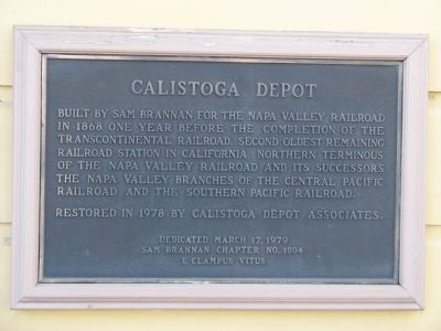 Calistoga Depot Marker image. Click for full size.