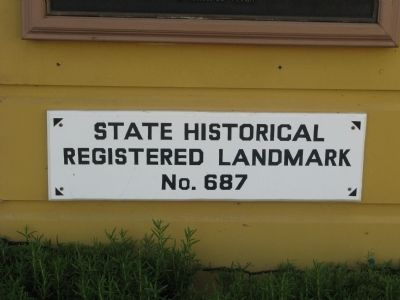 State Historical Landmark No.687 image. Click for full size.