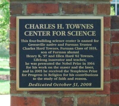 Charles H. Townes Center for Science Marker image. Click for full size.
