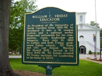 William C. Friday Marker image. Click for full size.