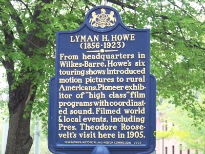 LYMAN H. HOWE Marker image. Click for full size.
