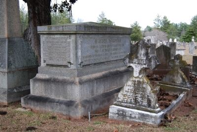 Gen. Samuel McGowan Crypt -<br>Southwest Corner<br>Long Cane Cemetery, Abbeville, SC Photo, Click for full size