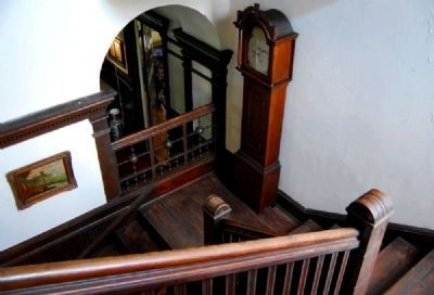 Staircase Leading to Second Floor -<br>Grandfather Clock on First Landing Photo, Click for full size