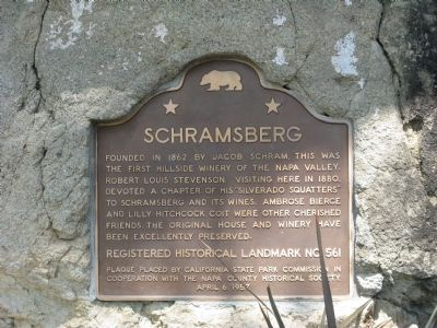 Schramsberg Marker Photo, Click for full size