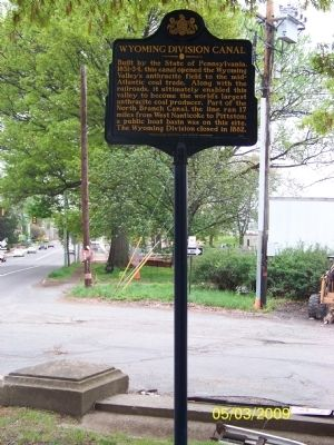 Wyoming Division Canal Marker image. Click for full size.