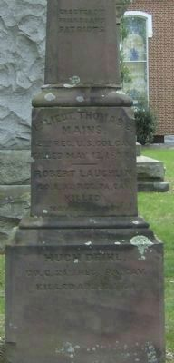 Our Fallen Patriots Marker (South Face) Photo, Click for full size