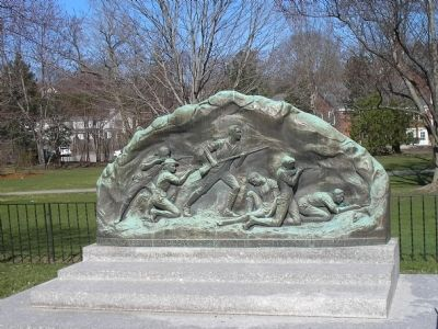 Memorial to the Lexington Minute Men Marker image. Click for full size.
