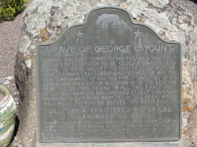 Grave of George C. Yount Marker Photo, Click for full size