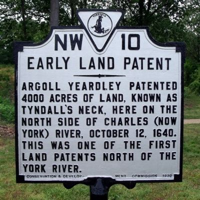 Early Land Patent Marker image. Click for full size.