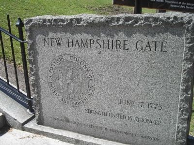 New Hampshire Gate Marker image. Click for full size.