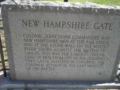 New Hampshire Gate Eastern Marker image. Click for full size.