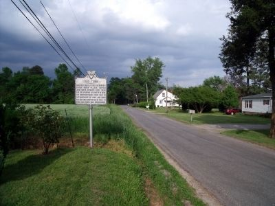 Old Town Marker on Burwells Bay Road (facing east). image. Click for full size.