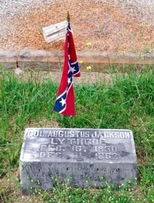 Col. Augustus Jackson Lythgoe<br>Long Cane Cemetery, Abbeville, SC image. Click for full size.