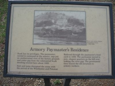 Armory Paymaster's Residence Marker Photo, Click for full size