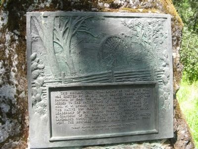 Bale Grist Mill Marker image. Click for full size.