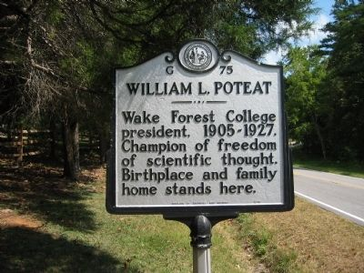 William Louis Poteat (1856-1938) image. Click for full size.