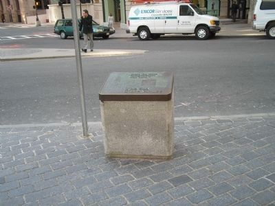 Marker on the Freedom Trail image. Click for full size.
