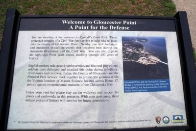 Welcome to Gloucester Point Marker image. Click for full size.