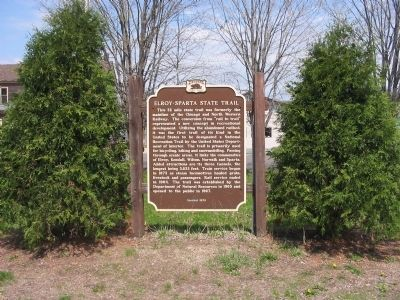 Elroy – Sparta State Trail Marker Photo, Click for full size