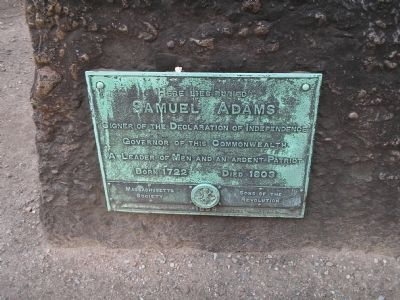 Samuel Adams Marker image. Click for full size.