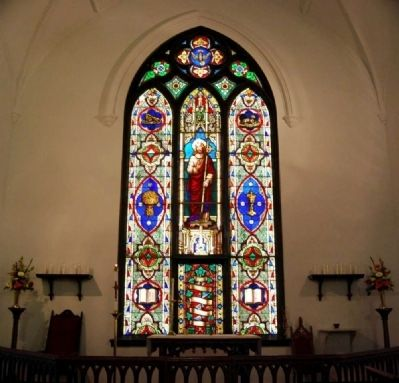 Trinity Episcopal Church Interior - Southwest Stained Glass Window image. Click for full size.