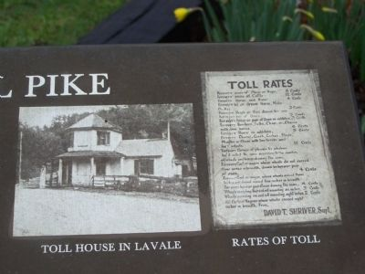 Toll House in LaVale - Rates of Toll image. Click for full size.