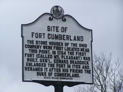Site of Fort Cumberland Marker Photo, Click for full size