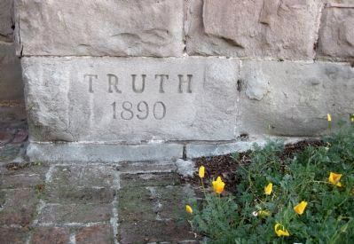 First Unitarian Church of Oakland - Cornerstone image. Click for full size.