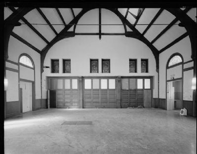 Wendte Hall Interior, Courtesy of the Historic American Buildings Survey image. Click for full size.