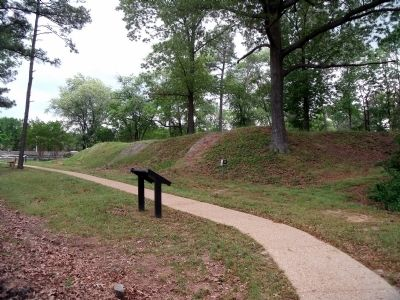 Marker & earthworks along Tyndall�s Point Park Walkway. Photo, Click for full size