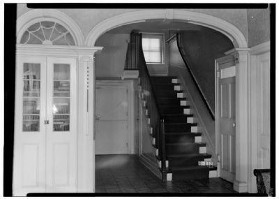 Hall and staircase, De Mott – Westervelt House image. Click for full size.