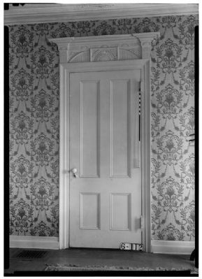 Living room door, De Mott – Westervelt House image. Click for full size.
