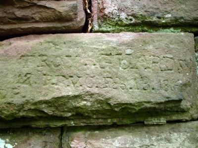 Union Inscription on Prince William County Abutment Photo, Click for full size