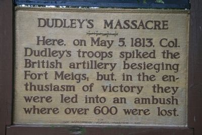 Dudley's Massacre Marker Photo, Click for full size