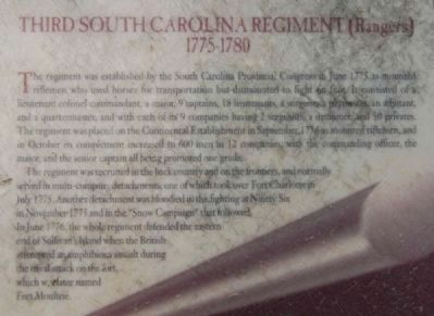 Capture of Fort Charlotte Marker -<br>Third South Carolina Regiment image. Click for full size.