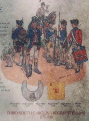 Capture of Fort Charlotte Marker -<br>Third South Carolina Regiment Rangers image. Click for full size.
