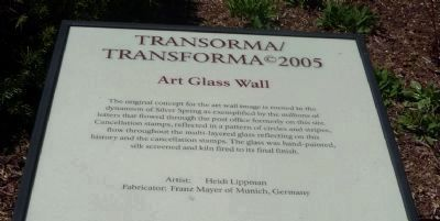"TRANSORMA/TRANSFORMA - ""Art Glass Wall"" </b>(Panel 3) image. Click for full size."