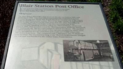 Blair Station Post Office </b>(Panel 2) image. Click for full size.