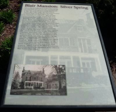 The Blair Mansion: Silver Spring </b>(Panel 1) image. Click for full size.