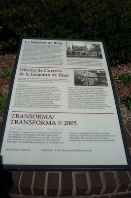 Marker inscriptions also provided <i>en español</i> image. Click for full size.