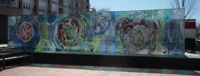 """Transorma/Transforma"" © 2005 - the ""Art Glass Wall"" created by Heidi Lippman. image. Click for full size."