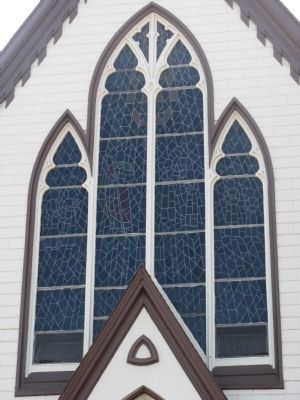 Stained Glass Window Over Entrance Doors image. Click for full size.