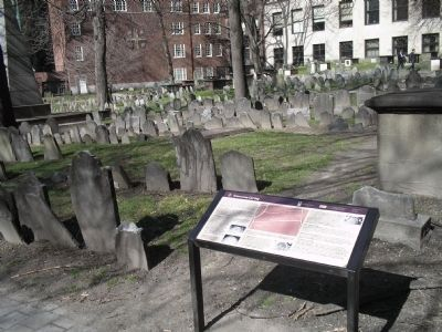 Marker in Granary Burying Ground Photo, Click for full size