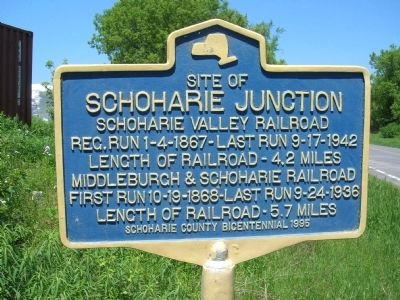 Schoharie Junction Marker image. Click for full size.