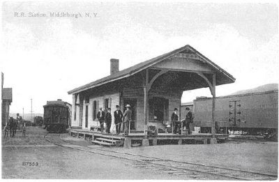 Middleburgh & Schoharie Station circa 1900 image. Click for full size.