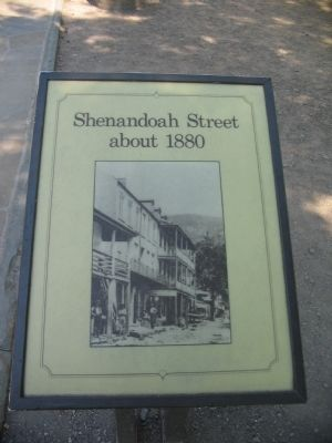 Shenandoah Street about 1880 Marker image. Click for full size.